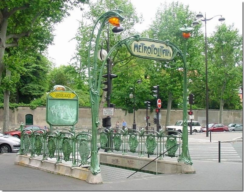 Metro chardon lagache entr e d 39 hector guimard for La poste porte de saint cloud