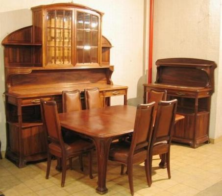 salle manger style art nouveau. Black Bedroom Furniture Sets. Home Design Ideas
